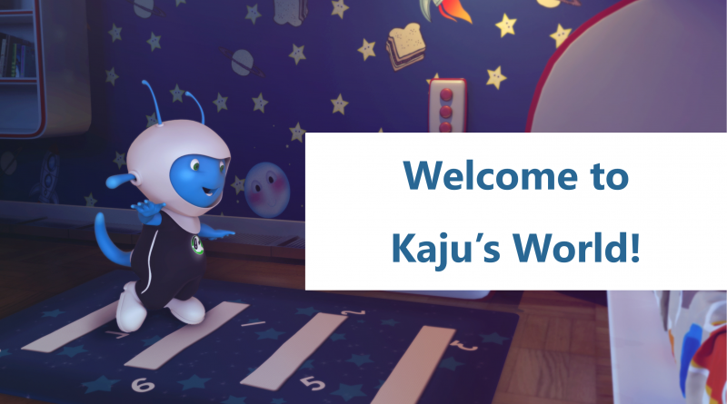 kids games - kaju jumping in room